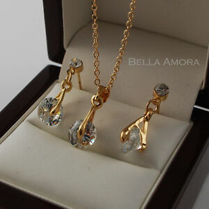 Wedding Gold Plated CZ Stone Chain Set 180