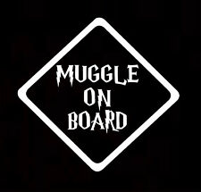 Muggle on Board Cute Harry Potter Funny Car Decal Sticker