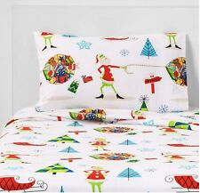 DR.SEUSS THE GRINCH FULL SIZE FLANNEL SHEET SET 4 PIECES CHRISTMAS HOLIDAY NEW