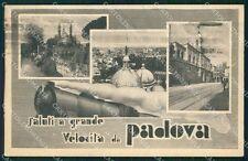 Padova Città Saluti a Grande Velocità Treno cartolina QT1501