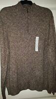Croft & Barrow 1/4 Zip Brown Sweater XXL