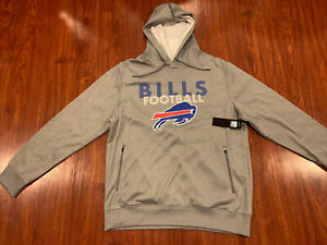 NFL Men's Buffalo Bills Gray Logo Hoodie Sweatshirt Extra Large XL Football