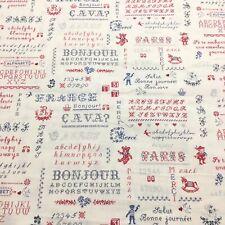 Sixty-Eight Collection Yuwa Fabric Cotton Sweet Cross Stitch Paris Themed Bthy