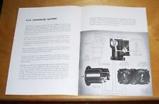 ROTOL AUTOMATIC R.P.M. SYNCHONISING EQUIPMENT LEAFLET