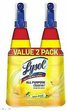 Lysol All Purpose Cleaner Spray Lemon Breeze 64oz 2 Pieces - Yellow