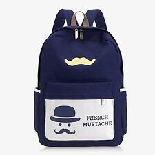 French Mustache Bag Pack (8443)