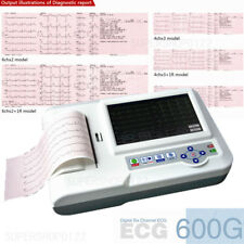 CONTEC Digital 3/6 channel 12-LEAD ECG EKG machine touch screen+Software ECG600G