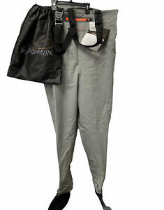 Frogg Toggs Hellbender Breathable Stockingfoot Chest Wader~Slate Grey M~DISCOUNT