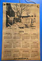1975 LEATHER/Suede CALENDAR WALL HANGING VINTAGE