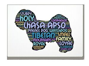Lhasa Apso Dog Art Print Word Art A4 A3 Mothers Day Gift Personalised Option
