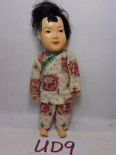 """VINTAGE ANTIQUE CELLULOID DOLL JAPAN-CHINESE ? 5"""" TALL ASIAN TRADITIONAL CHINA"""