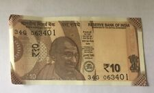 Collection of100 consecutive uncirculated Rs. 10 Indian Rupees notes issue 2018