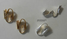 Earring Converters Pierced Post to Clip On 2 pair Gold & Silvertone Converter