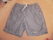 Mens/boys PIERRE CARDIN blue & white check shorts/swim shorts, size S small