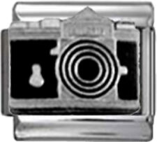 CAMERA PHOTOGRAPHER Enamel Italian 9mm Charm NC264 Fits Nomination Classic