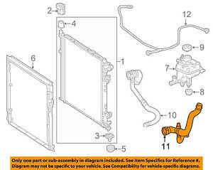 MERCEDES OEM 13-16 GL550 4.6L-V8 Radiator-Overflow Hose 1665001091
