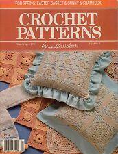Herrschners Crochet Patterns March April 1991 Pillow Bedspread Flower Afghan