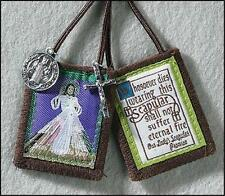 Divine Mercy Scapular + Rosary + Medals + Holy Cards + Face of Jesus