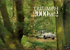 Triumph 2000 Mk2 1969-72 UK Market Sales Brochure Saloon & Estate