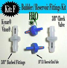 "3/8"" Kynar® Viton® Check Valves Plus: HHO Bubbler/ Reservoir/ Dry Cell Generator"