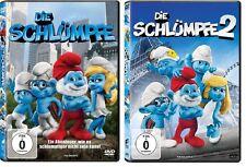 2 DVDs * DIE SCHLÜMPFE  1 + 2  - Die zwei Kinofilme im SET # NEU OVP <