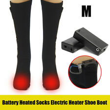 AU Battery Heated Socks Winter Feet Foot Warmer Electric Heater Thermal Boot+Box