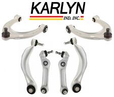 Front Lower Upper Control Arm Kit Lt & Rt 6pc Karlyn BMW 528i 535i 550i 640i 650