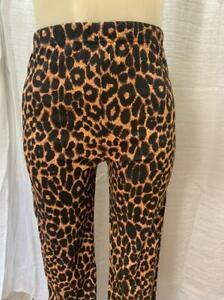 Straight Ladies Leopard Animal Print Women Stretch Full Length Leggings Pant LOT