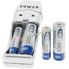 2 AA +2 AAA 1000mAh 3000mAh 1.2V NI-MH BTY Rechargeable Battery + USB Charger