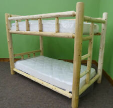 Premium Log Bunk Bed-Twin Over Twin - $559 - Free Shipping