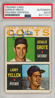 1964 Topps Rookie Stars Gerry Grote Signed Auto. PSA