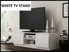 NEW ! WHITE TV Cabinet TV Unit RTV Entertainment Stand 120cm Modern DISPATCH 24H
