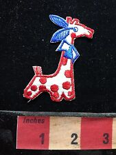 Fun Little Red Polkadot Polka Dot Giraffe Patch 69Y4