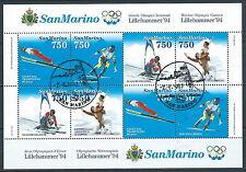 1994 SAN MARINO USATO FOGLIETTO OLIMPIADI DI LILLEHAMMER - VA25