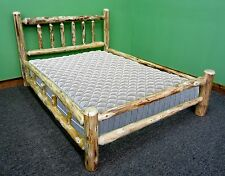 Rustic Full Log Bed - $449 - Double Log Side Rails, Premium Finish & Slats Incl!
