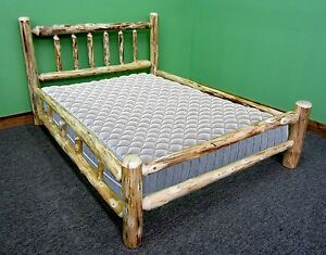 Rustic Log Bed - Queen $599 - Double Log Side Rail - Free Shipping