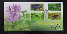 Singapore  2011 Pond Life High value , Fish, Insect. FDC