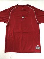 🌴Nike Philadelphia Phillies Men's L Large Red Short Sleeve Logo T-Shirt🌴