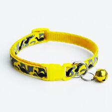 Mascota Collar De Gato Perro Ajustable con Seguridad Elástico con Campana