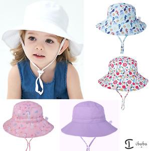 Kids Boy Girl Bucket Hat UPF50 Adjustable Sun Cap Unisex beach sport school
