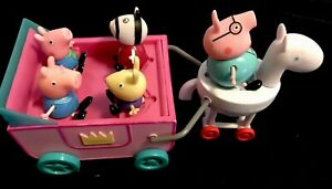 Jazwares Peppa Pig Horse & Carriage 2003 Non Working Includes 4 Figures