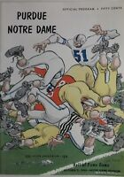 1954 Notre Dame Fighting Irish vs Purdue Complete Vintage Football Program