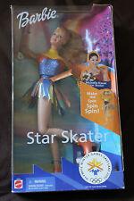Mattel STAR SKATER BARBIE Michelle Kwan (2001) NRFB #53375 (7R)