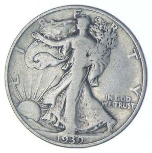 1939-D Walking Liberty 90% Silver US Half Dollar *815