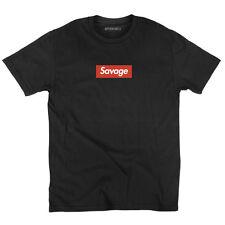 21 Savage T-Shirt Supreme Parody No Heart X Savage Mode Slaughter Gang ATL