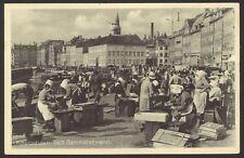 Denmark. Copenhagen. Gammel Strand. Skovser Women & Fish Market. 1947 Postcard