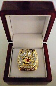 Patrick Mahomes - 2019 Kansas City Chiefs Super Bowl Gold Color Ring With Box