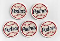(5) 1970's San Diego Padres patch lot vintage felt Lot Set of 5 patches