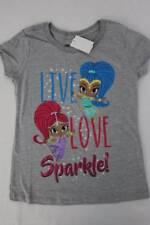 NEW Girls Graphic T-Shirt Medium 7 - 8 Gray Shimmer and Shine Top Genie Princess