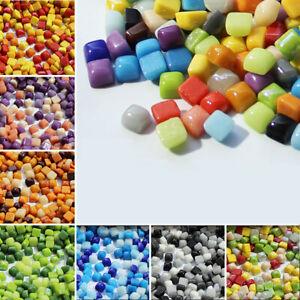 Jade Mini Glass Mosaic Tiles Square Wall Tiles Sheets Arts Crafts Various Mixes